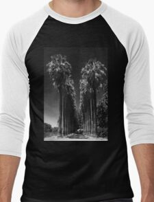 PALM TREES LINED DRIVEWAY Men's Baseball ¾ T-Shirt