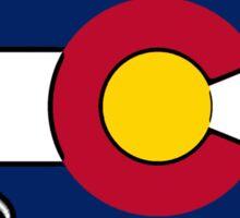Colorado flag France outline Sticker