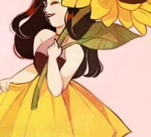 Sunflower Girl Sticker