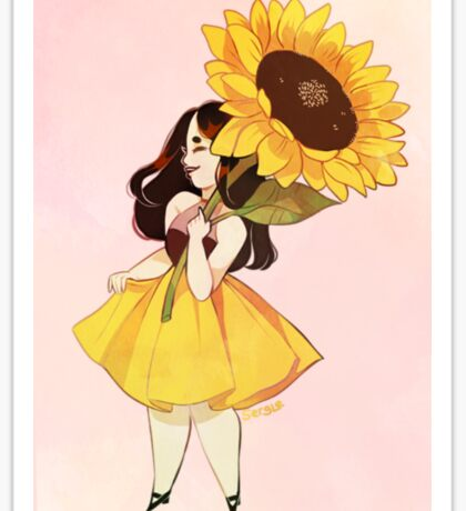 Sunflower Girl Sticker