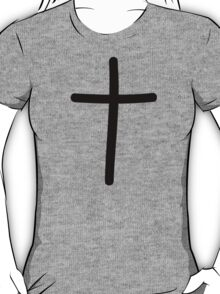 Black cross symbol T-Shirt