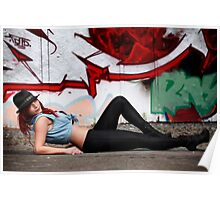 Graffiti - Model in Jeans Poster