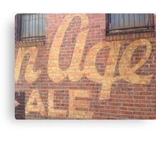 Golden Age Vintage Sign - Youngstown, Ohio Canvas Print