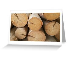 wooden layer Greeting Card