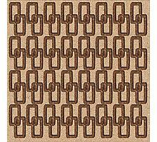 Cork Links Masculine Pattern Photographic Print