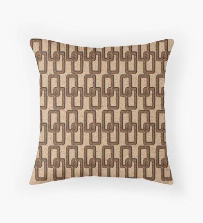 Cork Links Masculine Pattern Throw Pillow