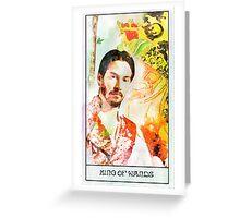 King of Wands Keanu Greeting Card