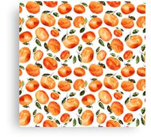 Watercolor tangerines Canvas Print