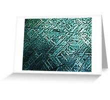 Techno Stone, Light Blue (Texture, Background) Greeting Card