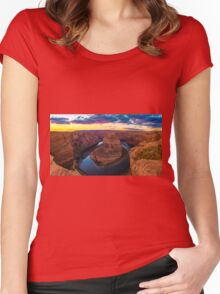 Nice Image of Horseshoe Bend Women's Fitted Scoop T-Shirt