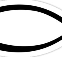Jesus fish icon Sticker
