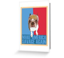 Trump Dog Greeting Card
