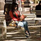 Quiet reading - Canberra Street Photography by Wolf Sverak