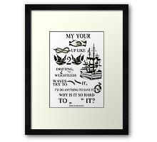 My hands, your hands Framed Print