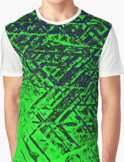 Techno Stone, Green (Texture, Background) Graphic T-Shirt