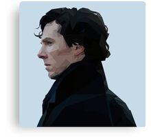 Sherlock Holmes Low Poly Canvas Print