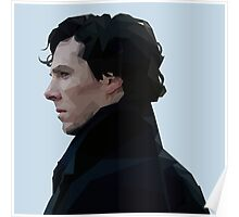 Sherlock Holmes Low Poly Poster