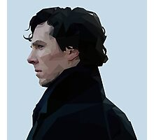 Sherlock Holmes Low Poly Photographic Print