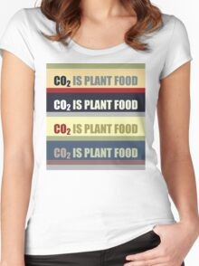 Carbon Dioxide Is Plant Food Women's Fitted Scoop T-Shirt