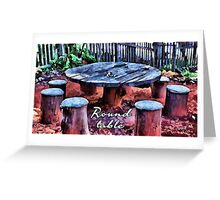 Round table Greeting Card
