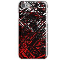 Techno Stone, Red n Black (Texture, Background) iPhone Case/Skin