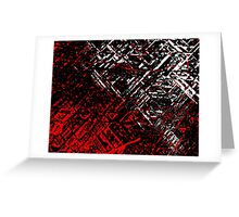 Techno Stone, Red n Black (Texture, Background) Greeting Card