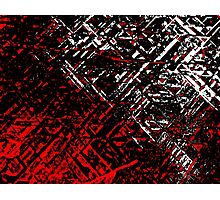 Techno Stone, Red n Black (Texture, Background) Photographic Print