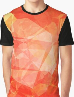 Polygons, Red (Wallpaper, Background) Graphic T-Shirt