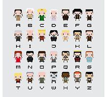 Game of Thrones Alphabet by Sergey Vozika