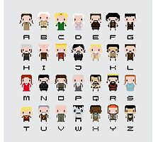 Game of Thrones Alphabet by Sergey Vozika