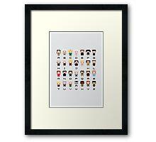 Game of Thrones Alphabet Framed Print