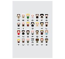 Game of Thrones Alphabet Photographic Print
