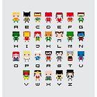 Superhero Alphabet by Sergei Vozika