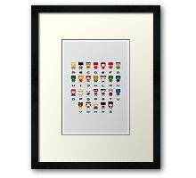 Superhero Alphabet Framed Print
