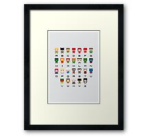 Superhero Alphabet Framed Print