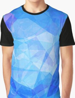 Polygons, Blue (Wallpaper, Background) Graphic T-Shirt
