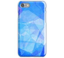 Polygons, Blue (Wallpaper, Background) iPhone Case/Skin
