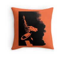 Saxophone Silhouette Throw Pillow