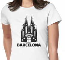 Barcelona Sagrada Familia Womens Fitted T-Shirt