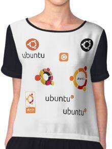 ubuntu linux stickers set Chiffon Top