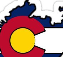 Colorado flag Russia outline Sticker