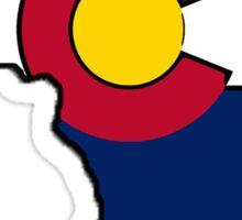 Colorado flag Africa outline Sticker