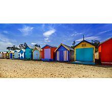 Brighton Beach Houses, Melbourne Photographic Print