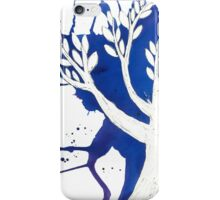 Blue Tree Ink Drawing iPhone Case/Skin