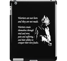 Warriors Are Not Born Or Made iPad Case/Skin