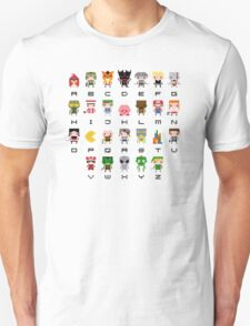 Video Games Alphabet Unisex T-Shirt