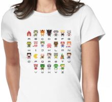 Video Games Alphabet Womens Fitted T-Shirt