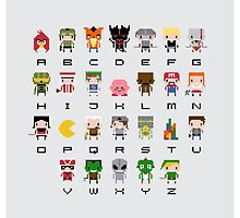 Video Games Alphabet by Sergey Vozika