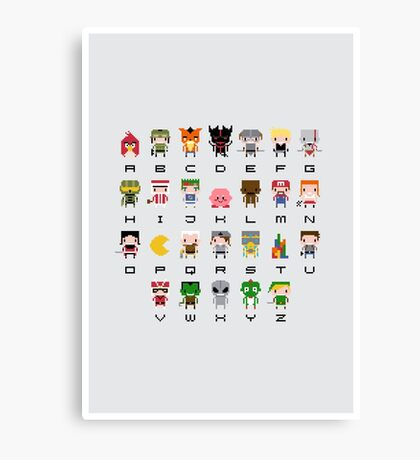 Video Games Alphabet Canvas Print