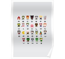 Video Games Alphabet Poster